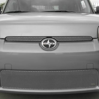 Grillcraft® - 5-Pc MX Series Silver Fine Mesh Main and Bumper Grille Kit