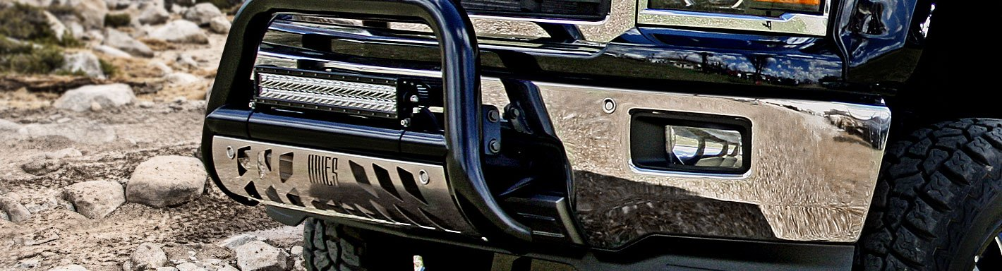 Black Horse Off Road BBDGCASS Stainless No skid plate 1 piece Bumper Push Bar A Bar