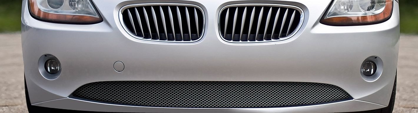 Silver finish 2003 to 2006 BMW Z4 Lower Grille