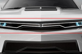 Image may not reflect your exact vehicle! DJ Grilles® - Predator™ Hidden Headlight Mesh Grille