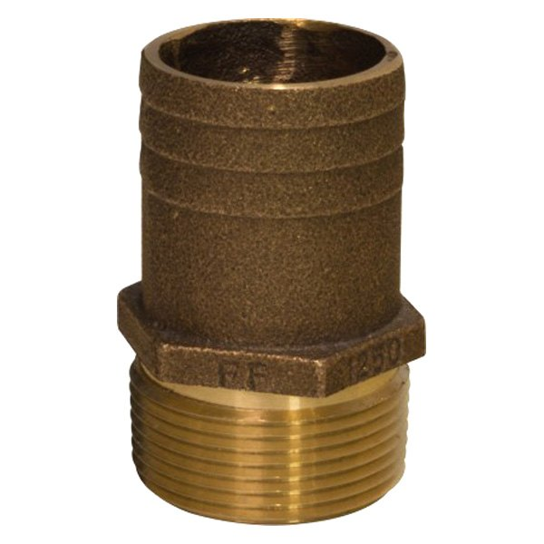 Groco ff quot bronze full flow pipe to hose adapter