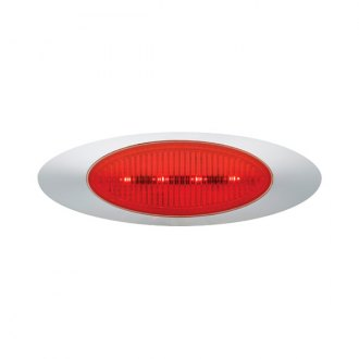 "Grote® - M1 Series 7""x2"" Oval Chrome/Red LED Side Marker Light"
