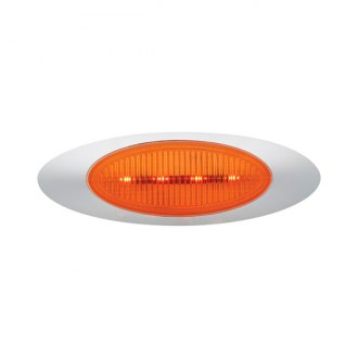 "Grote® - M1 Series 7""x2"" Oval Chrome/Amber LED Side Marker Light"