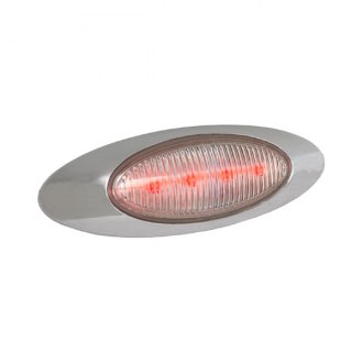 "Grote® - M1 Series 7""x2"" Oval Chrome LED Side Marker Light"