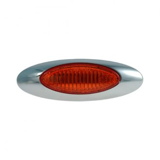 "Grote® - M5 Series 4""x1.25"" Oval Chrome LED Side Marker Light"