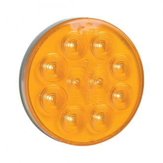"Grote® - SuperNova™ 4"" Round Chrome/Amber LED Turn Signal Light"