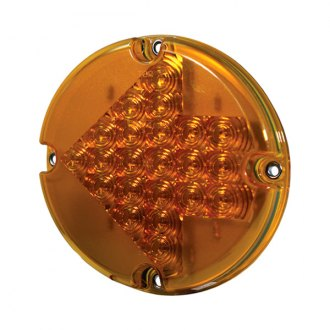 "Grote® - Arrow 7"" Round Chrome/Amber LED Turn Signal Light"