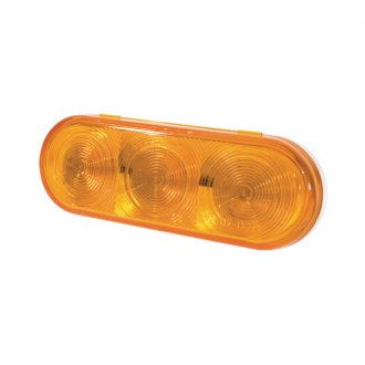 "Grote® - SuperNova™ NexGen 6x2"" Rectangular Chrome/Amber LED Turn Signal Light"