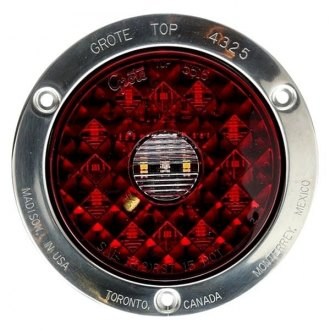 Grote® - Round LED Stop/Tail/Turn Light with Integrated Backup