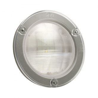 "Grote® - 4"" Chrome Round LED Backup Light with Integral Flange"