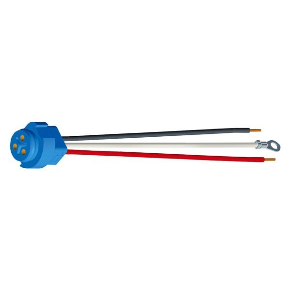 Grote® - Stop Tail Turn Three-Wire Plug-In Pigtails for Male Pin Lights with Chassis Ground and Blunt Cut Wire