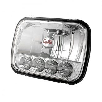 "Grote® - 7x6"" Rectangular Chrome LED Headlight"
