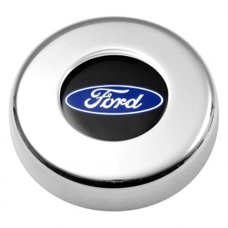 GT Performance® - GT3 Ford Oval Brilliant Polished Aluminum Steering Wheel Center Cover