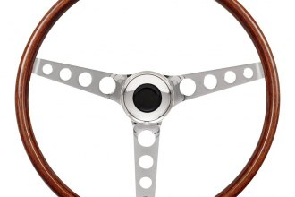 GT Performance® - GT3 Classic Brilliant Polished Hole Spoke Wood Steering Wheel