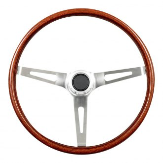 GT Performance® - GT3 Classic Brilliant Polished Slot Spoke Wood Steering Wheel