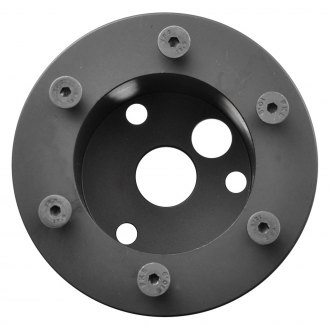 GT Performance® - 3 to 6-Bolt Black Anodized Hub Adapter