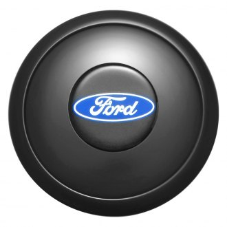 GT Performance® - GT9 Colored Ford Oval Black Anodized Horn Button