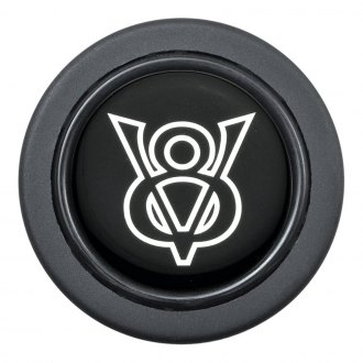 GT Performance® - Euro V-8 Emblem Black Horn Button