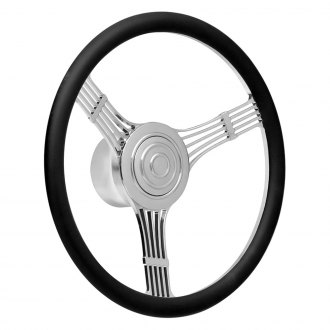 GT Performance® - GT9 Retro Banjo Style Leather Steering Wheel