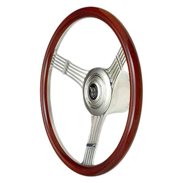 GT Performance® - 3-Spoke GT9 Retro Half Grip Banjo Style Wood Steering  Wheel