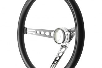 GT Performance® - GT3 Classic Mustang Style Foam Brilliant Polished Steering Wheel with Chrome Spoke