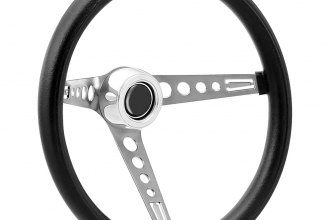 GT Performance® - GT3 Retro Mustang Style Foam Brushed Stainless Steel Steering Wheel
