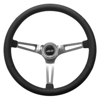 GT Performance® - GT3 Retro Slot Style Leather Steering Wheel