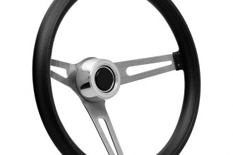GT Performance® - GT3 Retro Foam Brushed Stainless Steel Steering Wheel