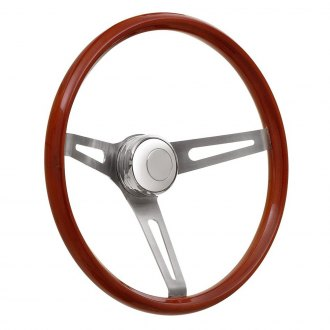 GT Performance® - GT3 Retro Slot Style Wooden Steering Wheel