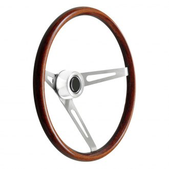GT Performance® - GT3 Retro Slot Style Dark Satin Wood Steering Wheel