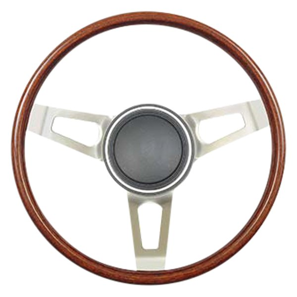 """15/"""" Real Walnut Wood Classic Steering Wheel Ford Mustang 3 Bolt"""