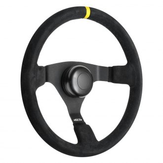 GT Performance® - GT3 Pro-Touring Switchback Suede Steering Wheel with Yellow top Marker