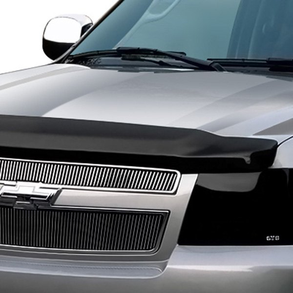 Image may not reflect your exact vehicle! GTS® - Smoke Omni-Gard SE™ Hood Deflector