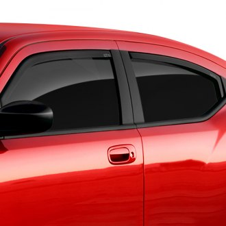 GTS® - In-Channel Ventgard™ Snap Smoke Front Window Deflectors