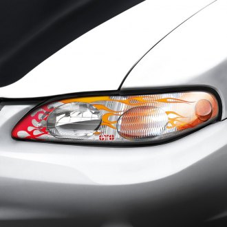 Image may not reflect your exact vehicle! GTS® - Flames Pro-Beam™ Headlight Covers