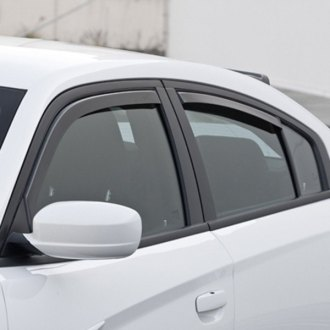 GTS® - In-Channel Ventgard™ Snap Smoke Front and Rear Window Deflectors