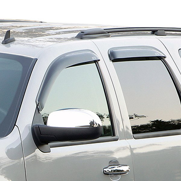 Image may not reflect your exact vehicle! GTS® - Front and Rear Smoke Ventgard™ Window Deflectors