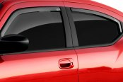 Image may not reflect your exact vehicle! GTS® - Front Clear Ventgard™ Snap Window Deflectors