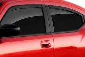 Image may not reflect your exact vehicle! GTS® - Front Smoke Ventgard™ Snap Window Deflectors