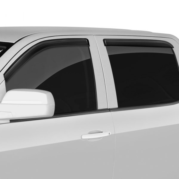 Image may not reflect your exact vehicle! GTS® - Front and Rear Smoke Ventgard™ Sport Window Deflectors