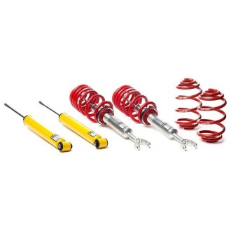 "H&R® - 1.6""-2.5"" x 0""-1.3"" Street Performance Front and Rear Lowering Coilover Kit"