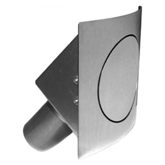 Hagan Street Rods® - 45 Series Round Curved Fuel Door, Hinged on Right