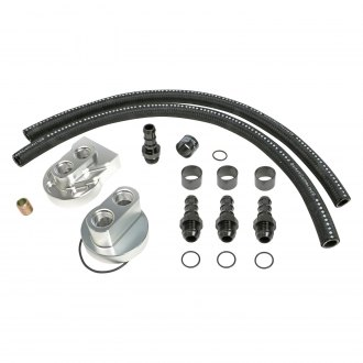 Hamburger's® - Billet Aluminum Single Oil Filter Relocation Kit