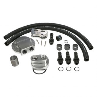 Hamburger's® - Billet Single Oil Filter Relocation Kit