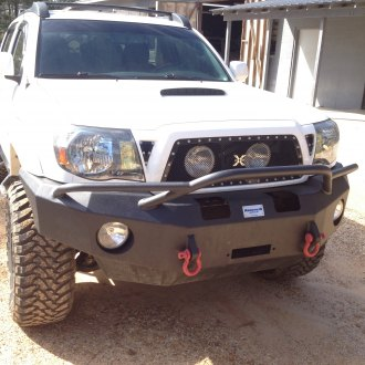 Hammerhead® - Full Width Black Front Winch HD Bumper with Pre-Runner Guard