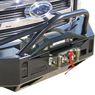 Hanson Off-Road® - Pre-Runner Tube Full Width Black Front Winch HD Bumper