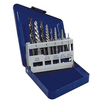 Hanson® - 10-Piece Spiral Extractor and Drill Bit Set
