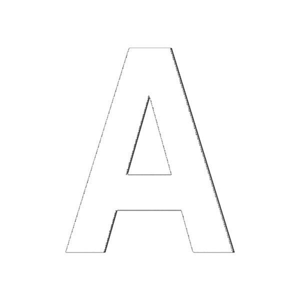"""Hardline® 17365 - 3"""" White Letter P"""