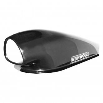"Harwood® - Tri Aero Series 12.5"" Bolt-On Fiberglass Hood Scoop (Unpainted)"