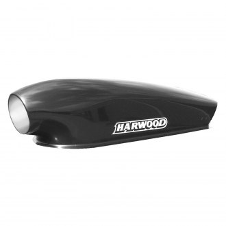 "Harwood® - Big-O Aero Series 12.5"" Bolt-On Fiberglass Hood Scoop (Unpainted)"